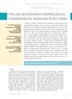 Prilog izučavanju hidrologije Skradinskog buka na rijeci Krki