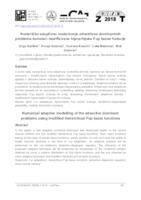 Numeričko adaptivno modeliranje advektivno dominantnih problema koristeći modificirane hijerarhijske Fup bazne funkcije