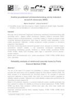 Analiza pouzdanosti armiranobetonskog okvira metodom konačnih elemenata (MKE)