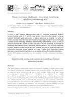 Eksperimentalno istraživanje i numeričko modeliranje lijepljenog lameliranog drva