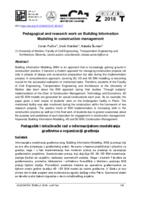 Pedagogical and research work on Building Information Modeling in construction management